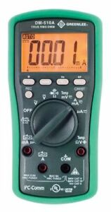 Greenlee Dm 510a True Rms Professional Plant Digital Multimeter
