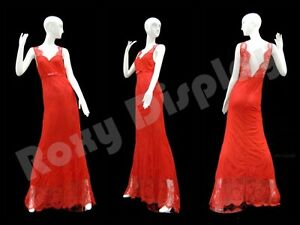 Female Fiberglass Glossy White Mannequin Eye Catching Abstract Style md xd17w