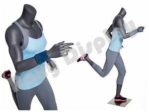 Female Fiberglass Headless Athletic Style Mannequin Dress Form Display mz ni 11