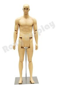 Male Mannequin Dress Form Display With Flexible Head Arms And Legs mz hm02
