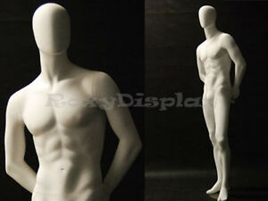 Male Fiberglass Egg Head Mannequin Dress Form Display md c29w2