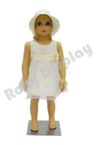 Child Plastic Realistic Mannequin Dress Form Display ps kd 1 free Wig