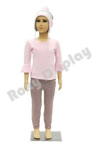 Child Plastic Realistic Mannequin Dress Form Display ps d2 d02 free Wig