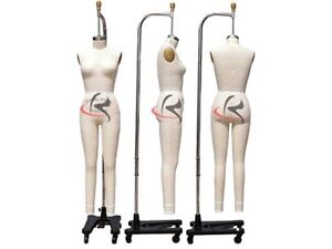 Professional Female Working Dress Form mannequin full Size 10 W legs arm