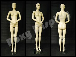 Female Fiberglass Mannequin With Two Interchangeable Heads Display mz abf1