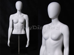 Table Top Egghead Female Mannequin Torso Display md egtfsa