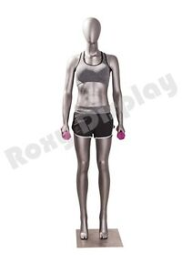 Female Fiberglass Egghead Athletic Style Mannequin Dress Form Display Mc jsw01