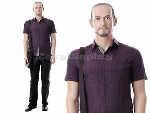 Male Fiberglass Realistic Mannequin Dress Form Display mz mik04
