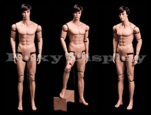Male Mannequin Dress Form Display With Flexible Head Arms And Legs hm01 mz