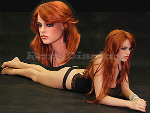 Female Fiberglass Mannequin Pretty Face Elegant Pose Dress From Display fr12 md