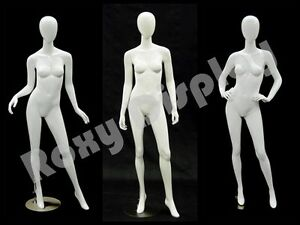 3 Pcs Group Female Fiberglass Egg Head Mannequins Display md a2 3 4w1 s Group