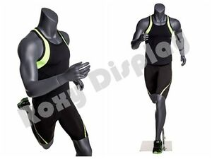 Male Fiberglass Headless Athletic Style Mannequin Dress Form Display mz ni 4