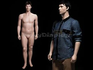 Male Fiberglass Realistic Mannequin Dress From Display mz plusman