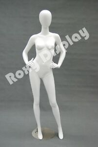 Female Highend Fiberglass Egg Head Mannequin Display Dress Form md a4w2 s