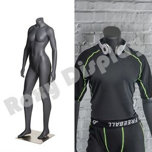 Female Fiberglass Headless Athletic Style Mannequin Dress Form Display mz ni 10