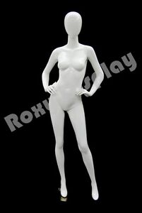 Female Highend Fiberglass Egg Head Mannequin Display Dress Form md a4w1 s