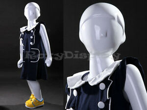 Child Fiberglass Abstract Mannequin Dress Form Display mz tom2