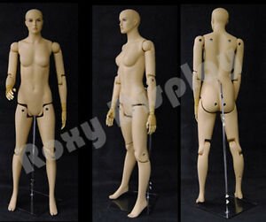 Female Mannequin Dress Form Display With Flexible Head Arms And Legs fm01 s mz