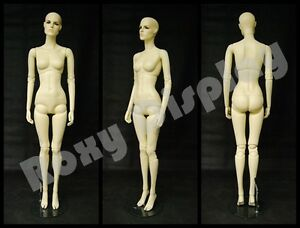 Female Fiberglass Mannequin With Two Interchangeable Heads Display mz abf4