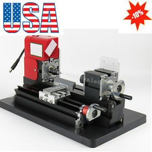 Mini Metal Motorized Lathe Machine Power Tool Diy Model Making Woodworking 24w