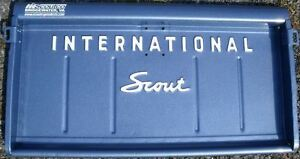 Ih International Scout 80 800 Tailgate Lettering Black