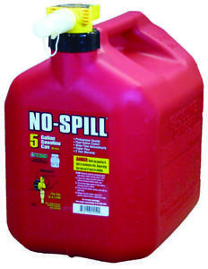 No spill 1450 Gas Can 5 Gal 15 In H Plastic Red