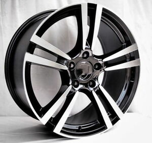 20 Porsche Cayenne 911 Wheels Turbo 2 Style Rims Boxster Cayman Staggered Black