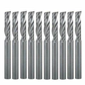 Hozly 4x17mm Cnc Router Bits Single Flute Tools Cut Smokeless Pack Of 10