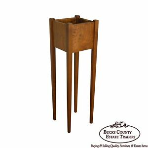 Antique Solid Walnut Custom Made Fernery Plant Stand