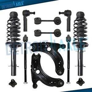 For Volkswagen Beetle Golf Jetta 12pc Front Strut Lower Control Arm Sway Bar Kit