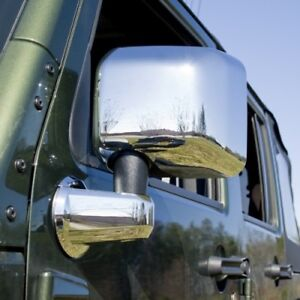 Rugged Ridge 13311 03 4 Piece Mirror arm Cover Kit Chrome For 07 17 Wrangler Jk