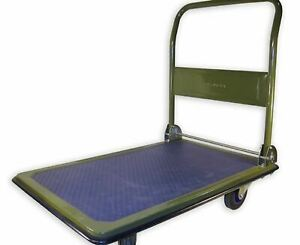 Folding Service Cart Hand Truck Storage Moving Rolling Metal Heavy Duty Platform