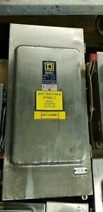 Square D 200 Amp Safety Switch Disconnect Model H364ds Fusible j 1