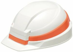 Izano Disaster Prevention Helmet White Orange Line Dic Plastic Abs Japan New