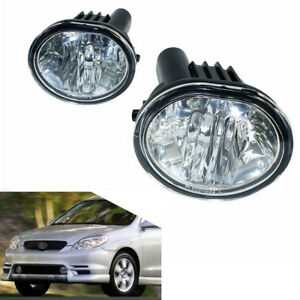 Fog Light For 03 08 Toyota Matrix Pontiac Vibe Clear Lens Bumper Driving Lamps