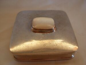 Sterling Silver Pill Snuff Box Set With Mother Of Pearl 62 Grams