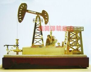 New Oil Well Pump Jack Gold Model Commemorative Edition small Gifts
