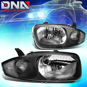 For 03 05 Chevy Cavalier I4 Black Housing Clear Signal Headlight Replacement
