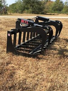 Mtl Attachment Hd 78 Skid Steer Root Grapple Twin Cylinder bobcat universal Fit