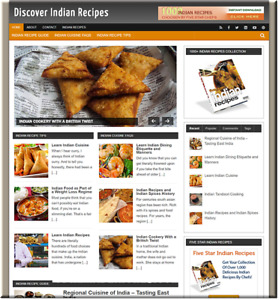 Indian Recipes Turnkey Website Business Earn From Affiliate Adsense