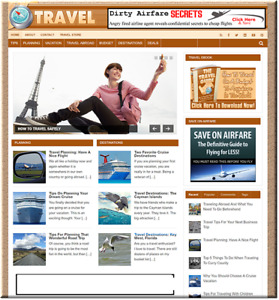 Travel Ready Made Turnkey Website Business Earn From Affiliate Adsense