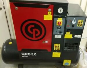 Chicago Pneumatic Rotary Screw Air Compressor With Dryer 1 Phase 5 Horsepower