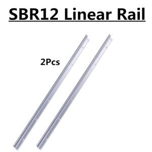 2pcs Fully Supported Cnc Linear Rail Shaft Rod Slide Guide Sbr12 1200