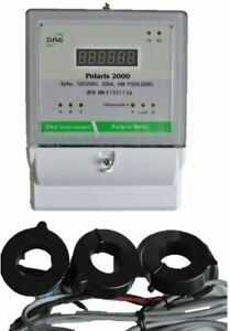 Dae P204 200d s Kit Ul Demand Electric Kwh Submeter 3p4w 200a 120 208v 3 Cts