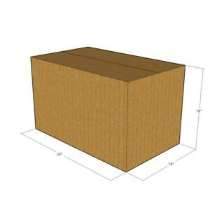 5 Corrugated Boxes 30 X 18 X 18 32 Ect New For Packing Or Shipping Needs