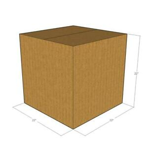 5 Corrugated Boxes 22 X 22 X 22 200 32 Ect New For Packing Or Shipping Needs