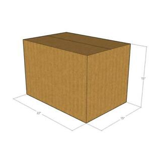 5 Corrugated Boxes 22 X 15 X 15 200 32 Ect New For Packing Or Shipping Needs