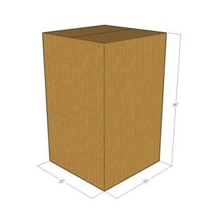 5 Corrugated Boxes 22 X 22 X 36 200 32 Ect New For Packing Or Shipping Needs