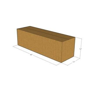 5 Corrugated Boxes 40 X 12 X 12 32 Ect New For Packing Or Shipping Needs