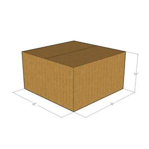 5 Corrugated Boxes 22 X 22 X 12 200 32 Ect New For Packing Or Shipping Needs
